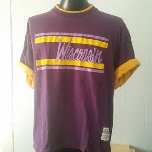 Vintage Wisconsin T-shirt Puffy Script 80s 90s